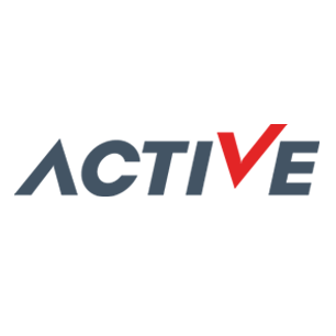 Active logo Art Direction by: Bart Crosby, Crosby Associates