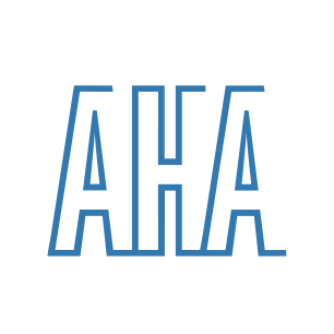 American Hospital Association logo Art Direction by: Bart Crosby, Crosby Associates