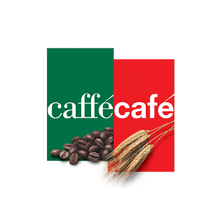 CafféCafé logo Art Direction by: Bart Crosby, Crosby Associates
