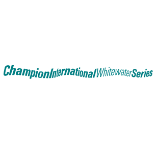 Champion International Whitewater Series logo Art Direction by: Bart Crosby, Crosby Associates