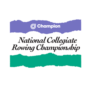 Champion International National Collegiate Rowing Championship logo Art Direction by: Bart Crosby, Crosby Associates