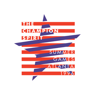 Champion Spirit of Summer Games Atlanta logo Art Direction by: Bart Crosby, Crosby Associates