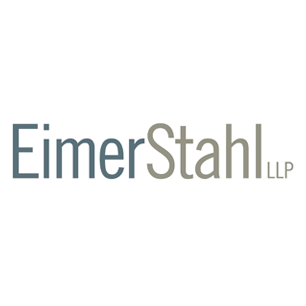 Eimer Stahl LLP logo Art Direction by: Bart Crosby, Crosby Associates