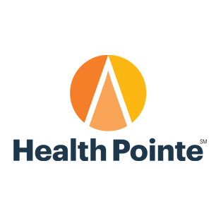 Health Pointe logotype Art Direction by: Bart Crosby, Crosby Associates
