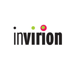 Invirion Inc. logo Art Direction by: Bart Crosby, Crosby Associates