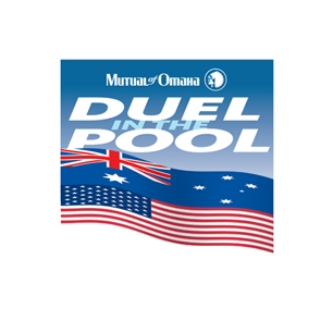 Mutual of Omaha Duel in the Pool logo Art Direction by: Bart Crosby, Crosby Associates