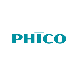 PHICO logo Art Direction by: Bart Crosby, Crosby Associates