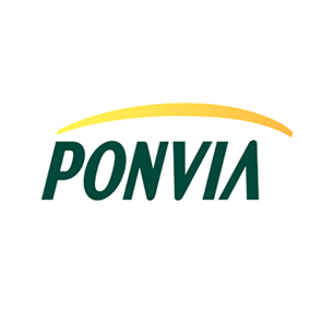 Ponvia Technology, Inc. logo Art Direction by: Bart Crosby, Crosby Associates