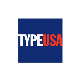 Type USA logo Art Direction by: Bart Crosby, Crosby Associates