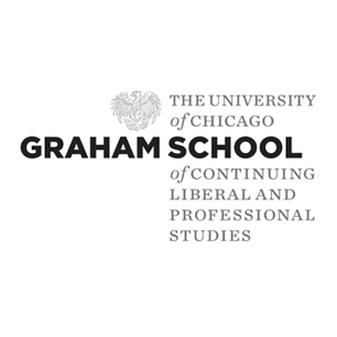 University of Chicago Graham School logo Art Direction by: Bart Crosby, Crosby Associates