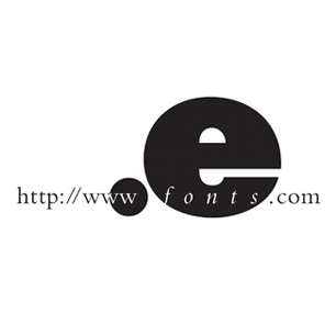 eFonts logo Art Direction by: Bart Crosby, Crosby Associates